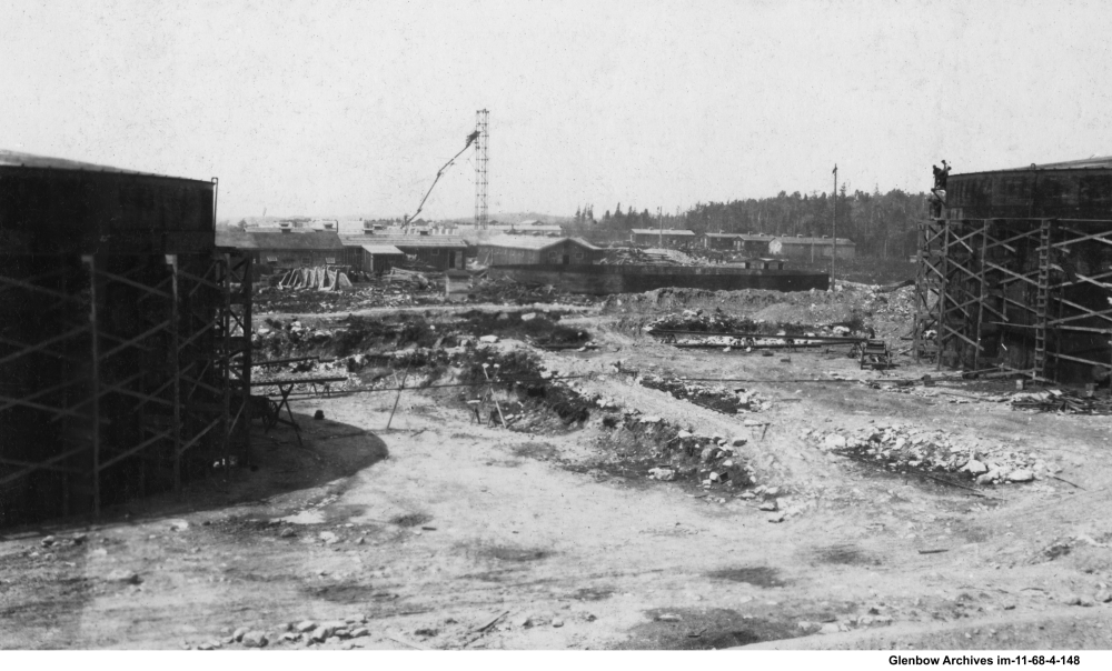 rogress on the tank field  July to August 1917, Dartmouth Imperial Oil Refinery