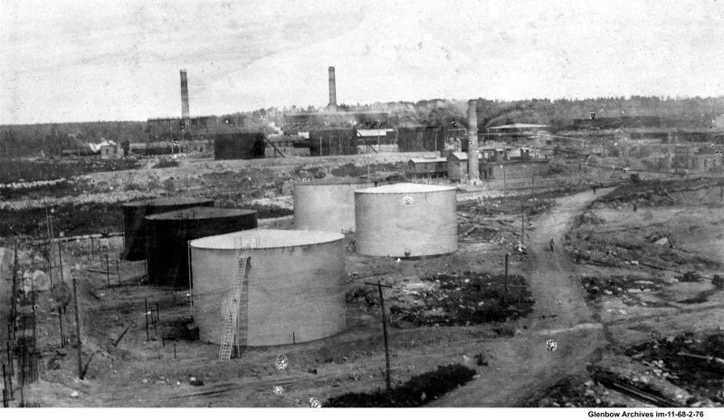 Contruction on storage area Dartmouth Imperial Oil Refinery October 9, 1918