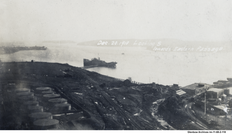 December 20, 1918, Looking south toward Eastern Passage , Imperial Oil Refinery in Dartmouth.