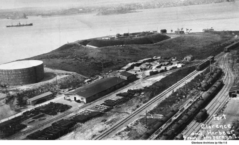 View of Fort Clarence and Halifax harbour from Imperoyal Village 1927