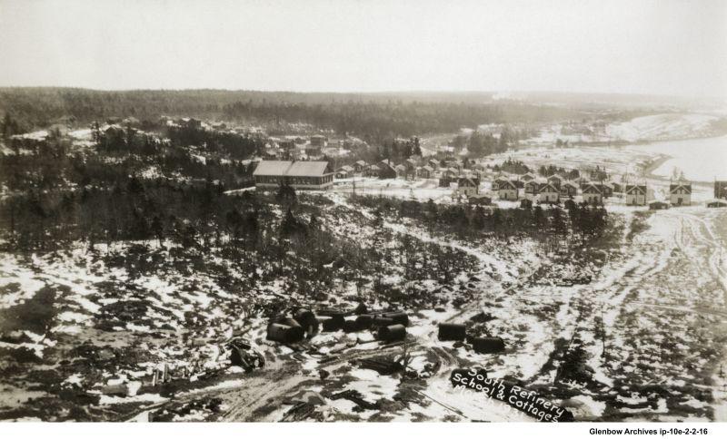 Aerial view of Imperoyal school and Imperoyal Village taken in March 1931