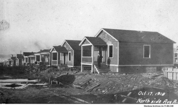Construction of Avenue A, Imperoyal Village, Woodside, Nova Scotia