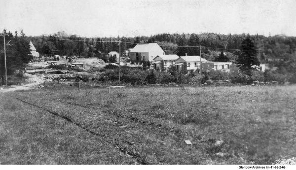 Construction begines on Avenue A, Imperoyal Village, Woodside, Nova Scotia
