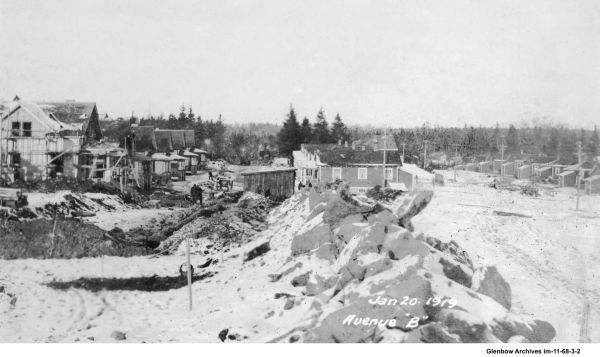 Construction of Avenue B, Imperoyal Village, Woodside, Nova Scotia