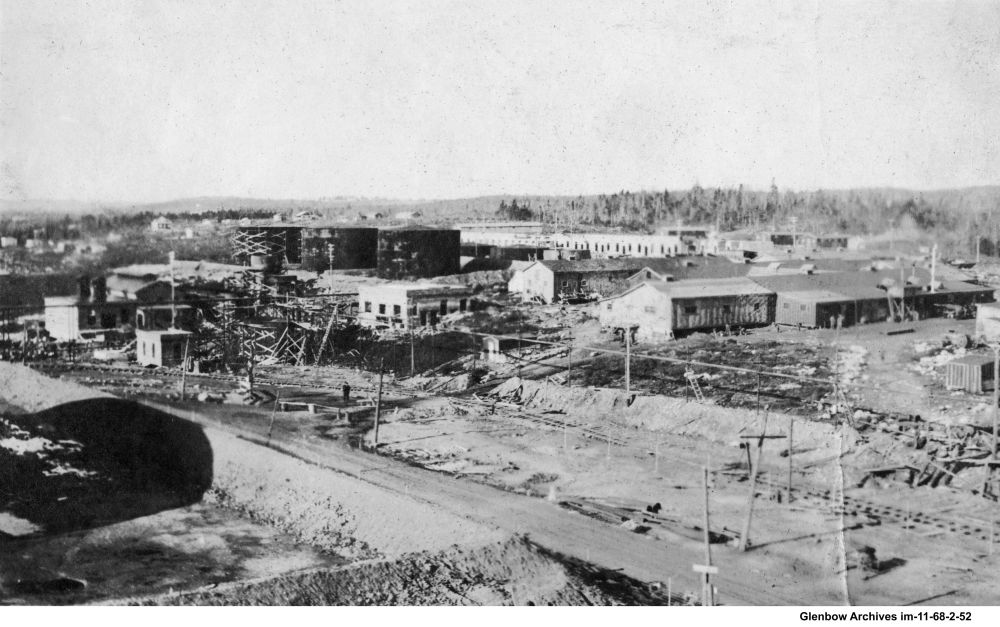 September-October, 1918 View Imperial Oil's Imperoyal Refinery, near Dartmouth, Nova Scotia.
