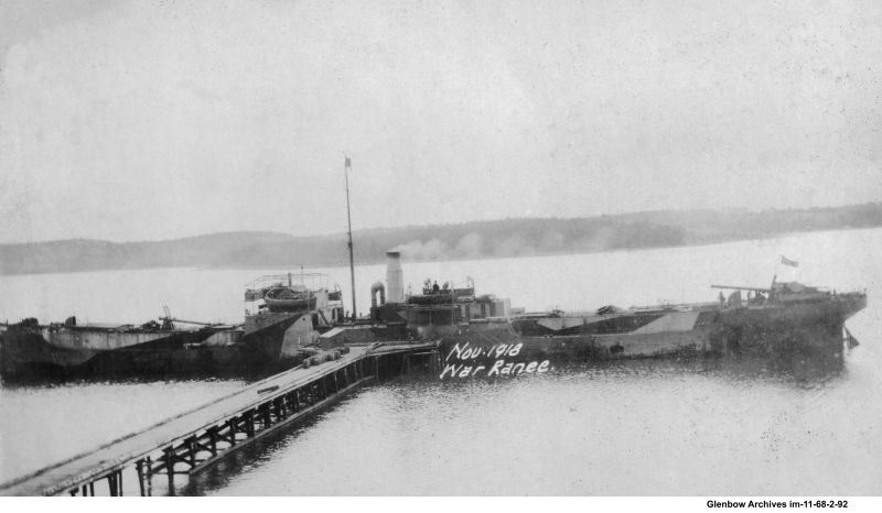 War Ranee at Imperial Oil's Imperoyal Refinery, Dartmouth, November, 1918