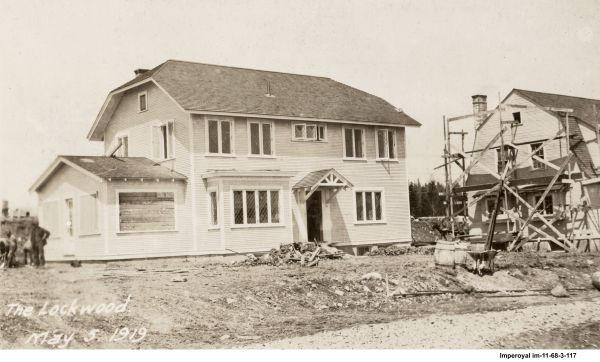 Superintendent's Lockwood style house, at the end of Avenue B. May 5, 1919