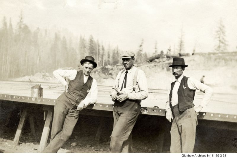 Imperoyal employees: on the right, possibly Irving Lewis, foreman carpenter circa 1920