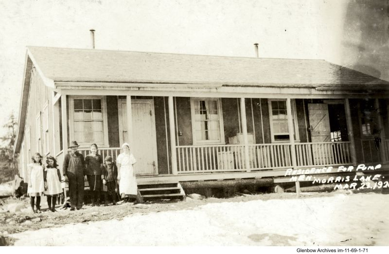 Home for the operator of the pump house at Morris Lake. March 23, 1920
