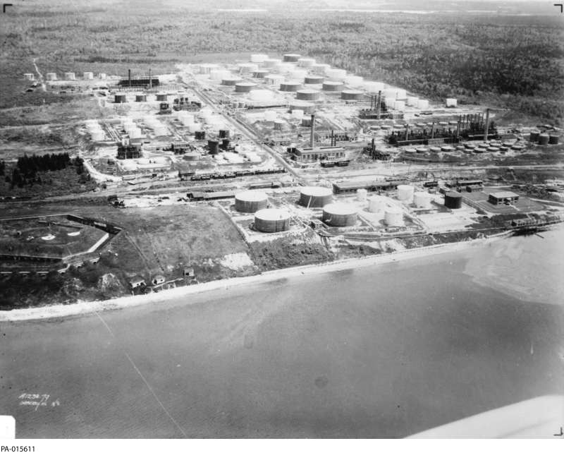 aerial photo of Imperial Oil Dartmouth NS 1930s