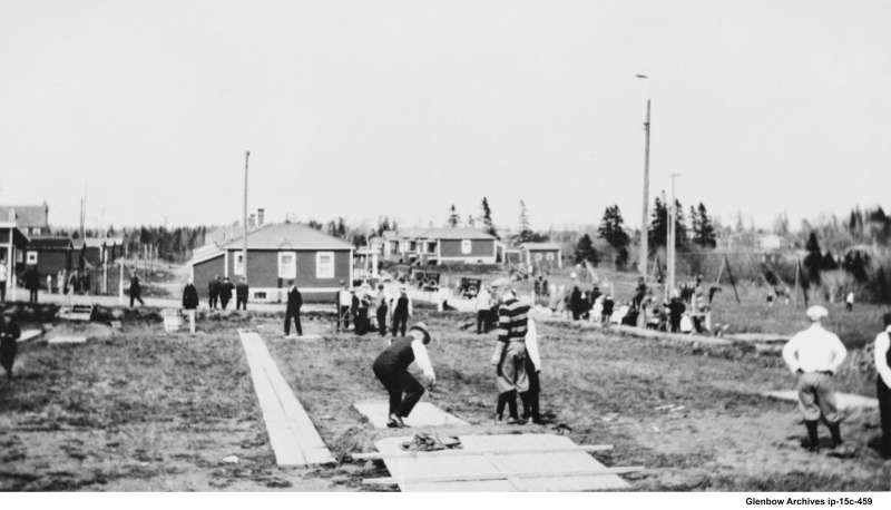Imperoyal Village playing quoits 1920s