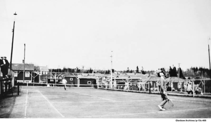 Imperoyal village tennis court 1930