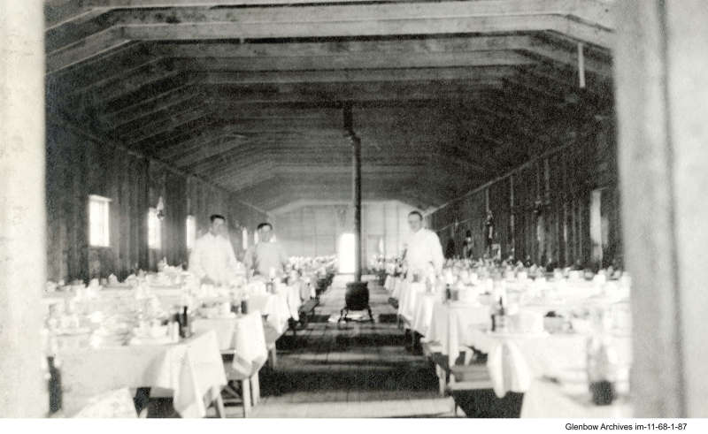 Interior view of dining hall at Imperial Oil's Imperoyal Refinery, June 16, 1917