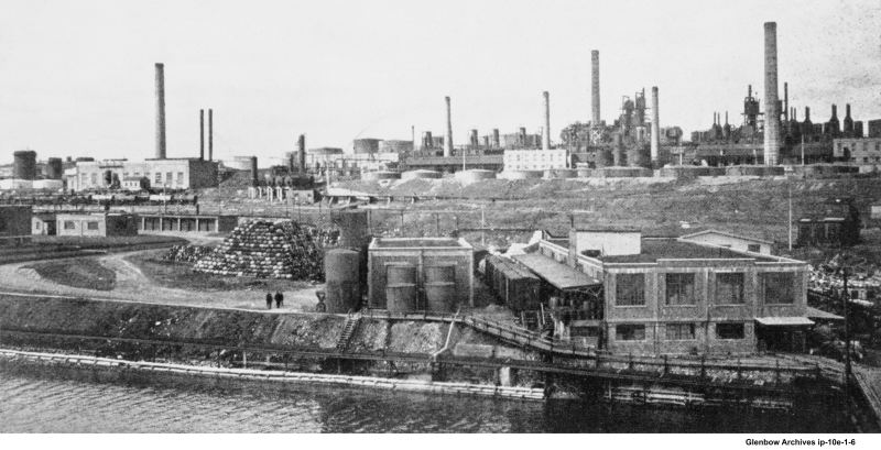 View of Imperial Oil refinery Dartmouth, NS 1920