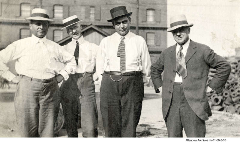 Imperoyal employees: on the right, possibly W. B. Elsworth, plant manager circa 1920