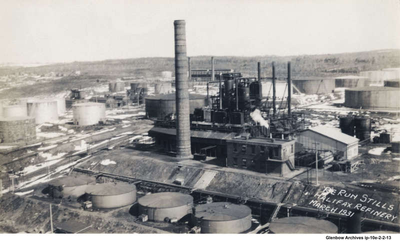 Re-run stills at Imperial Oil's Imperoyal Refinery, Dartmouth, March 1931