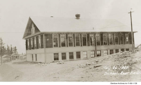 Brand new Imperoyal School from the back, May 26, 1920