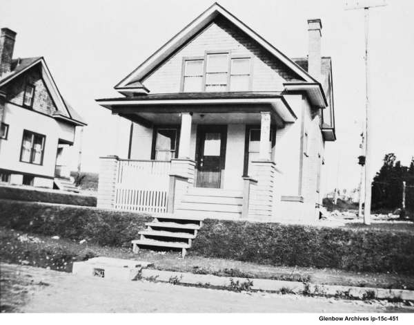 One of the original houses for supervisors at Imperial Oil 1918