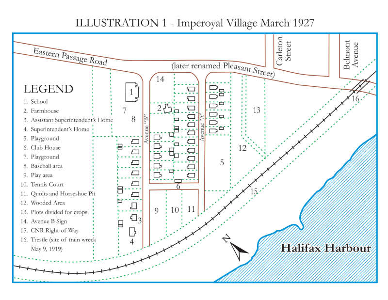 Imperoyal Village map 1927 Woodside Dartmouth