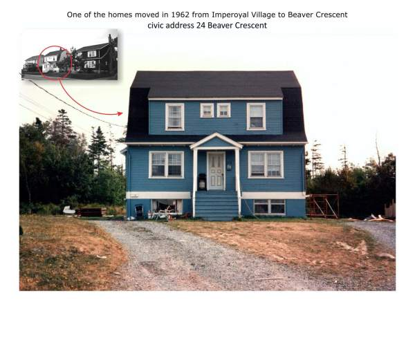 home moved in 1962 from Imperoyal Village to Beaver Crescent