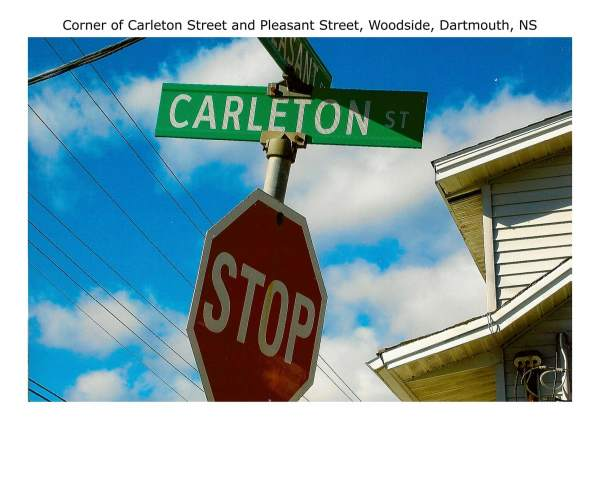 corner of Carleton Street and Pleasant Street Woodside Dartmouth NS