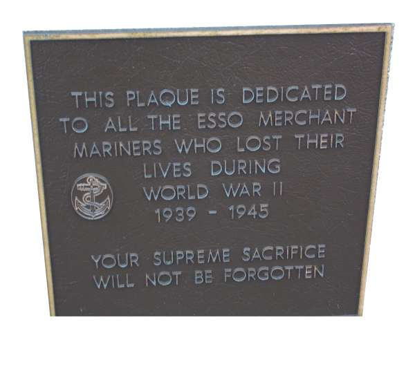 Pleasant St, Dartmouth, Imperial Oil Cenotaph plaque