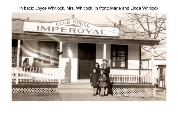 the Whitlock family in front of Imperoyal Club House