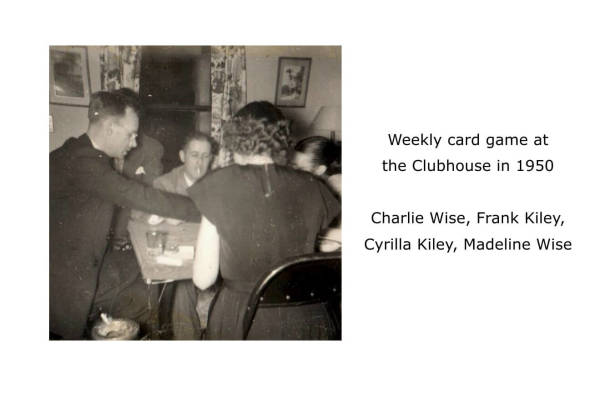 Imperoyal Clubhouse weekly card game 1950