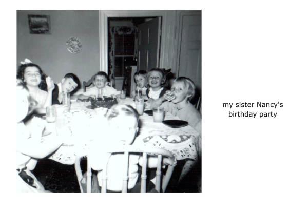 my sister Nancy's birthday party