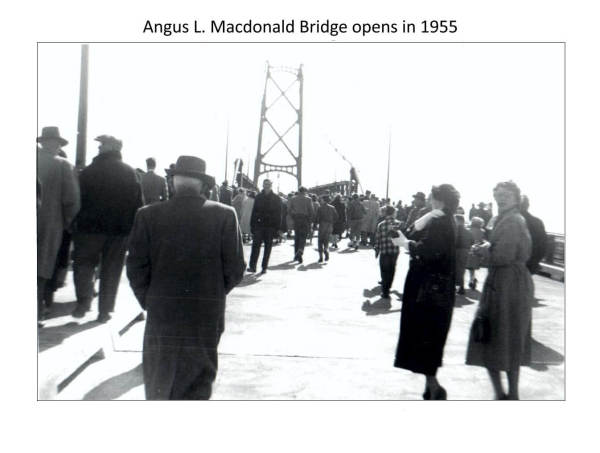 opening of the Angus L. MacDonald Bridge Halifax-Dartmouth in 1955