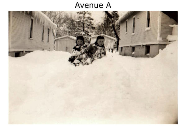 Imperoyal Village Avenue A, Woodside, family photos taken 1930s