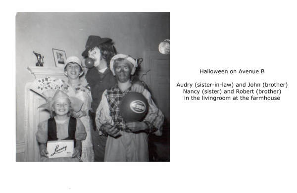Halloween, Imperoyal Village Avenue B, Woodside, family photos taken 1950s