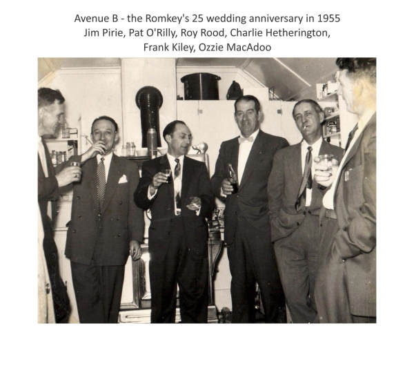 Imperoyal Village Avenue B the Romkey's 25 wedding anniversary in 1955
