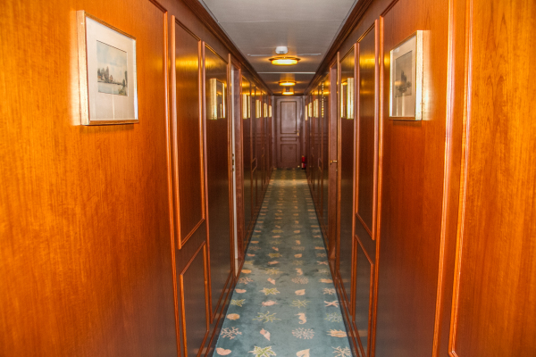 Corridor before refit