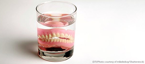 Older patients - with or without dentures - have higher bacterial counts in their mouths
