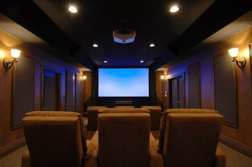 HD projector installation
