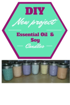 DIY Essential Oil & Soy Candles