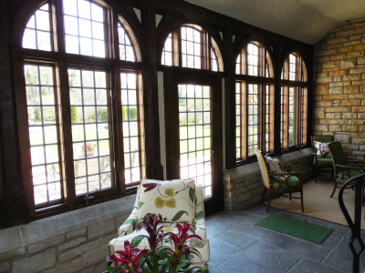 Leaded Window Sunroom 1 by Greg Lashbrook