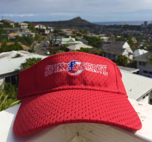 Spike and Serve Visor Red Colorway