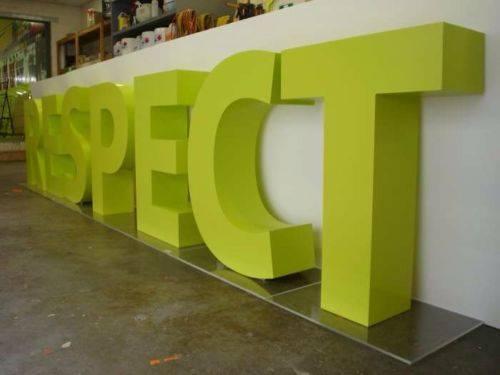 large letters, 3D letters glasgow, build up letters