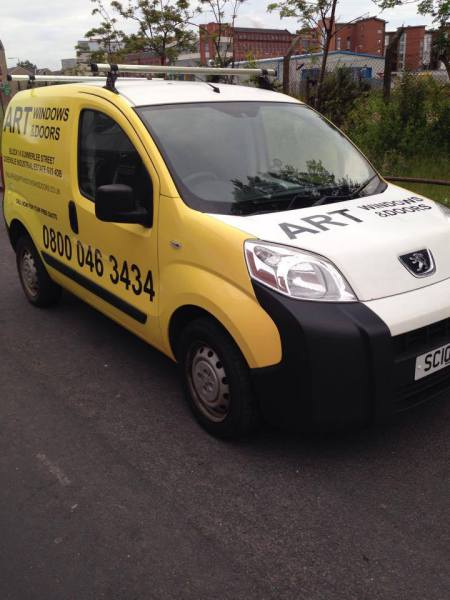 vehicle advertising glasgow, glasgow van graphics
