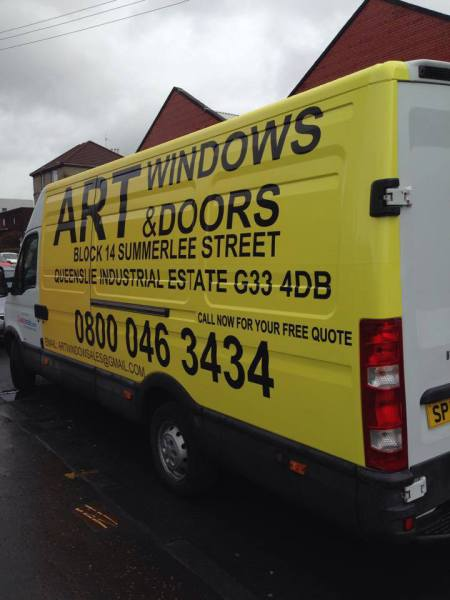 van graphics, fleet branding, glasgow car decals