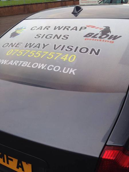 one way vision stickers, car window stickers