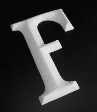glasgow moulded letters, glasgow letters, 3D letters