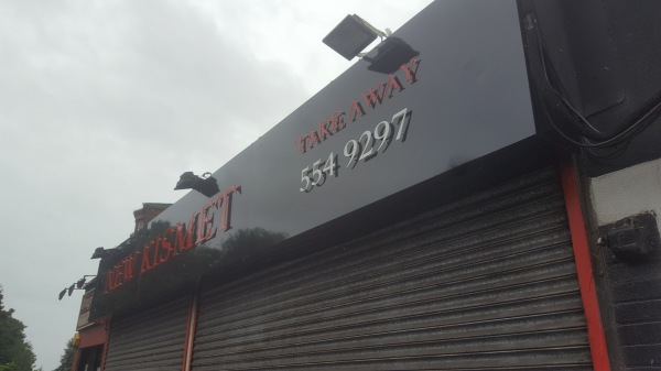 glasgow shop signs, take away signs glasgow