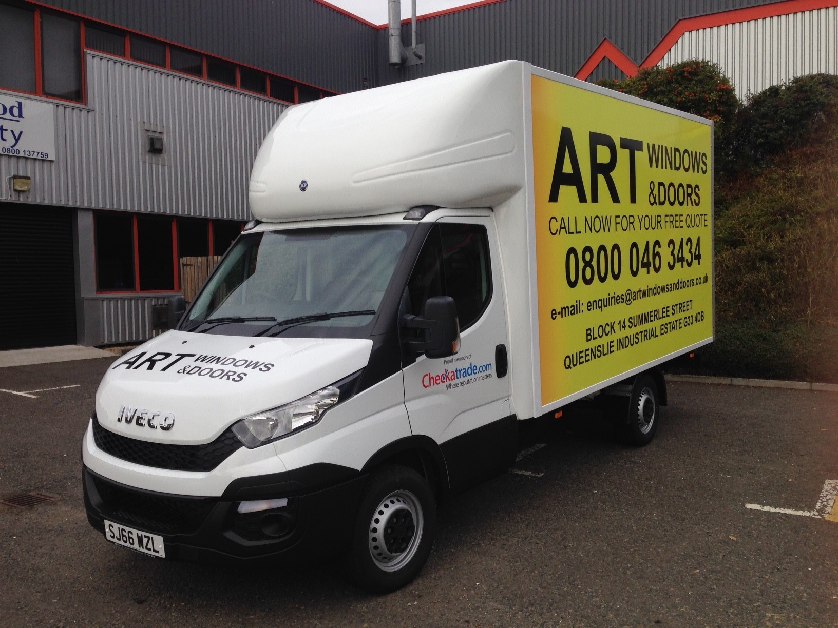 vehicle signs, van graphics, car signs, vehicle stickers