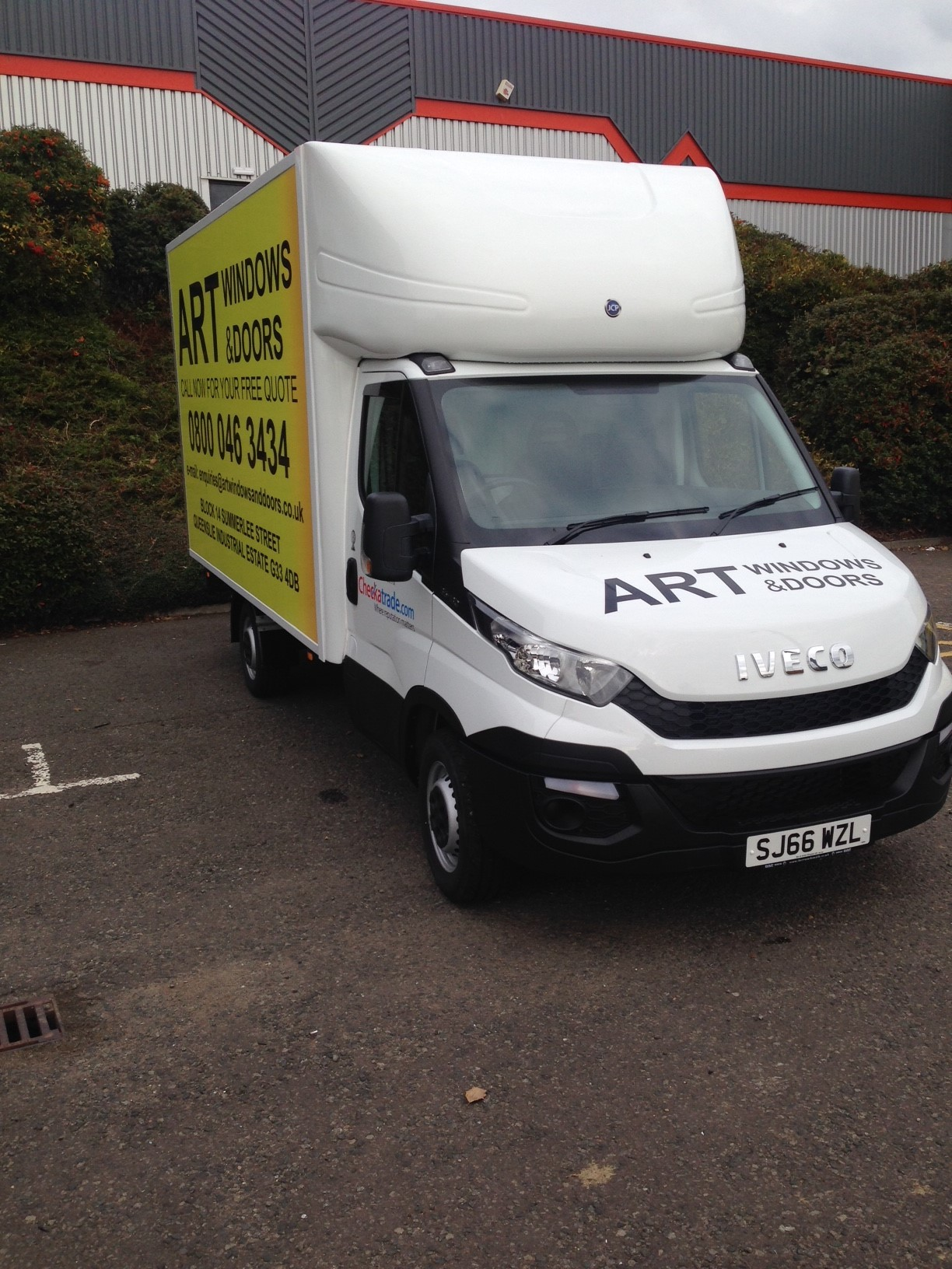 glasgow van signs, vehicle graphics glasgow, stickers for cars