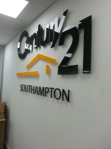 office wall logo sign glasgow, glkasgow logo signs, glasgow office signs