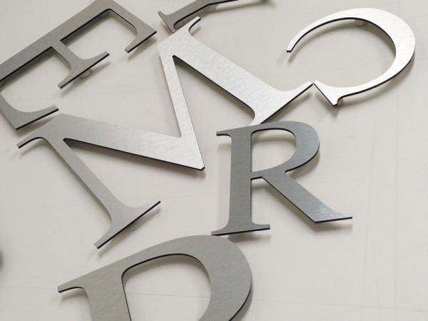 aluminum letters, glasgow metalic letters, glasgow shop letters