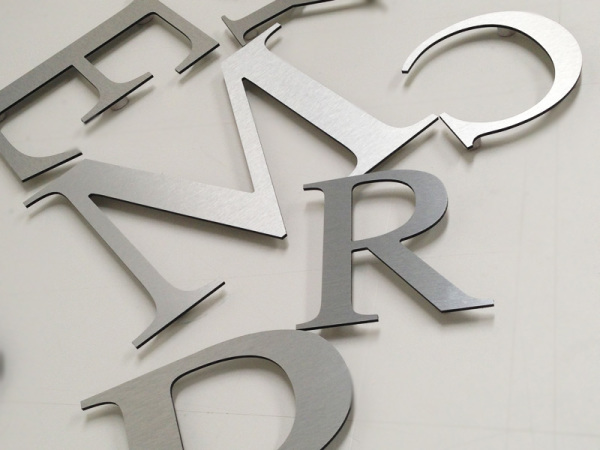 aluminium letters glasgow, fmetalic letters glasgow, dibond letters glasgow